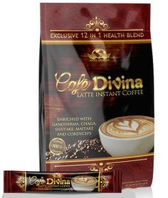 Wake up every morning with your instant Café Divina, enriched with Ganoderma, Chaga, Shitake, Maitake and Cordyceps. Enjoy the creamy Latin delicacy that Vida Divina has to offer in every cup. Café Divina: 60 sachets per pack. Coffee Latte, Iced Coffee, Coffee Drinks, Fat Burning Tea, Healthy Menu, Eating Healthy, Healthy Living, Clean Eating, Organic Cleaning Products