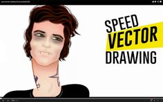 speed vector drawing (Dude portrait) | .This coffee flavored life.: