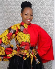 8 Casual Ankara Tops For Women – A Million Styles Ankara Tops Blouses, Ankara Peplum Tops, Ankara Blouse, Ankara Dress, Dress Skirt, African Inspired Fashion, African Print Fashion, Africa Fashion, African Print Dresses