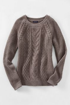 Women s Lofty Blend Cable Sweater from Lands  End Шорти 38145723540fb