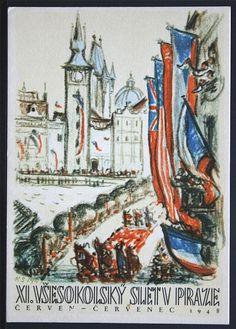 Sokol Slet   Prague   XI. Vsesokolsky Slet v Praze 1948