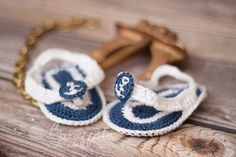Flip flop for little navy baby