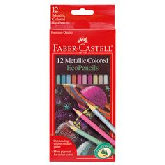 Metallic Colored EcoPencils  - Smooth bright colors that work great on dark paper. Highly metallic pigments