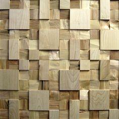Мозаичное панно - комбинация колотой и шлифованной березы от TESSWOOD DECOR tesswood@mail.ru