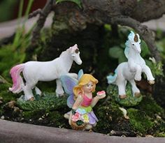 Fairy Lotus Pond Garden Miniature Home Decor Crafts DIY Dollhouse Xmas Gift ZP