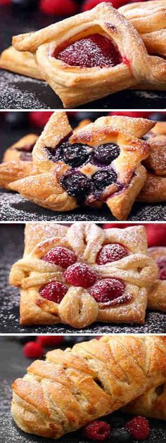Pastelillos de hojaldre. 4 recetas originales Sweet Recipes, Cake Recipes, Snack Recipes, Cooking Recipes, No Bake Snacks, Snacks Für Party, Delicious Deserts, Yummy Food, Homemade Cookies