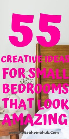 You still have options with your small bedroom. Get creative and have fun decorating. Small bedrooms can look amzing, be cozy and have storage. Small Master Bedroom, Small Bedrooms, Cozy Bedroom, Storage Hacks, Diy Storage, Modern Bedroom Decor, Bedroom Furniture, Wall Mounted Light, Small Shelves
