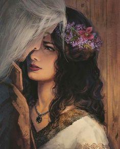 Botsman, Ekaterina - Almost Kiss- Yennefer & Witcher (cathbotsman- DeviantArt) The Witcher Game, The Witcher Books, Witcher Art, Fantasy Love, Fantasy World, Dark Fantasy, Fantasy Art, Yennefer Cosplay, Ciri