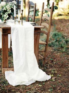 White table runner | Noi Tran Photography | see more on: http://burnettsboards.com/2015/01/romantic-winter-styled-shoot/