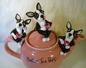 Boston Terrier Tea Party