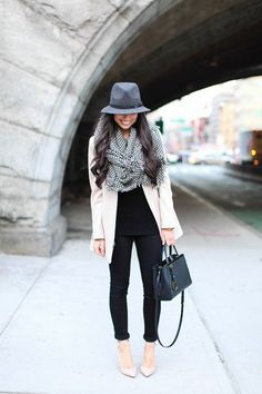 fedora, sweater and black underneath   www.misspool.com