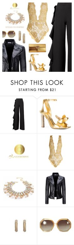 """Angieberrys: Styles to Inspire"" by sproetje ❤ liked on Polyvore featuring AMUR, Mercedes Castillo, Coco de Mer, WithChic, Ted Lapidus, Gucci, lace, ruffles, leatherjackets and WearIt"
