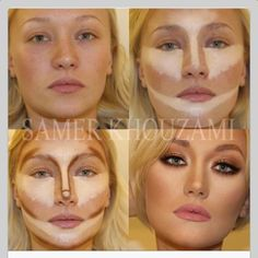 face contouring can be done with Younique products, BB cream and concealers