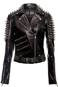 Spike Leather Jacket [VEGAN]