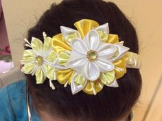 Hey, I found this really awesome Etsy listing at https://www.etsy.com/listing/239428333/custom-floral-white-and-yellow-headband