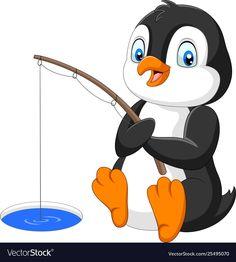 Cartoon penguin fishing on arctic ice vector image on VectorStock Zombie Cartoon, Cartoon Turtle, Cartoon Monkey, Cartoon Boy, Seal Cartoon, Tooth Cartoon, Cute Baby Cartoon, Cute Baby Dogs, Cartoon Angel Wings