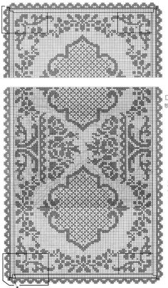 д filet crochet rectangular tablecoth Tapestry Crochet, Crochet Motif, Crochet Doilies, Crochet Table Runner, Crochet Tablecloth, Thread Crochet, Crochet Stitches, Doily Patterns, Crochet Patterns