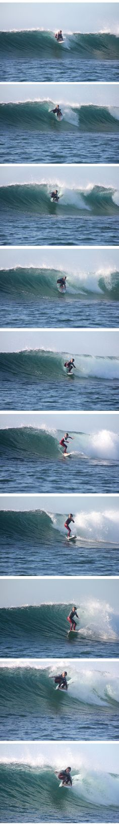Tube riding by 9 years old lko surf team rider