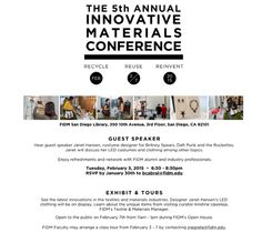 The #FIDM Blog: Innovative Materials Conference Comes to San Diego February 2-7, 2015