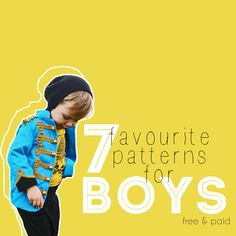 """7 favourite patterns for boys. Has the Dana """"made"""" pattern I already use, chck out the multi-size skinny jeans pattern? also has a jacket/blazer pattern."""