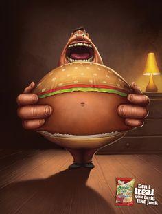 「Don't treat your body like junk.(自分のカラダをジャンク(ガラクタのように)に扱わないで)」 | AdGang