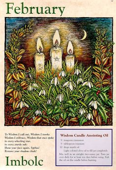 My month.also the Wiccan holiday of Imbolc.or the Festival of the Hearth Wiccan, Wicca Witchcraft, Pagan Festivals, Illustration Noel, Les Religions, Groundhog Day, Sabbats, Book Of Shadows, Occult