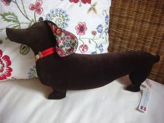 Dachshund Soft Decorative Cushion by dollydrops on Etsy, £25.00