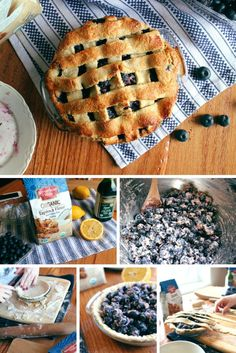 Blueberry pie, crust made with Tapioca Flour #BakeitForward / @arrowheadmills