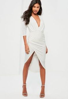 Asymmetrical Wrap Metallic Dress PINK   MakeMeChic.COM   Shops ...
