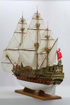 Ship model SOVEREIGN OF THE SEAS of 1637