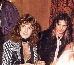 Robert Plant (Zepplin) and Tommy Bolin of Deep Purple