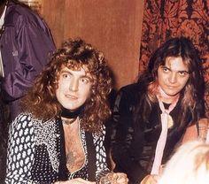 Robert Plant (Zepplin) and Tommy Bolin of Deep Purple