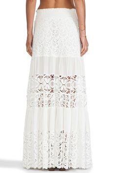Alexis Liu Maxi Skirt In White Crochet Revolve White Maxi Skirt