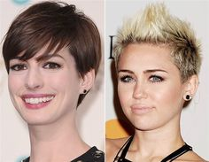 Anne Hathaway and Miley Cyrus (© Rex Features)