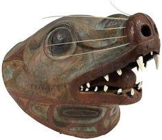 Tlingit sea lion warrior helmet. 19th century. Kunstkamera collection. @cargocultist