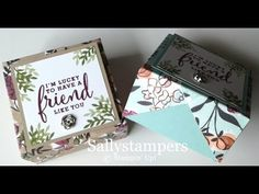 Fold Over Lid Box. Share What You Love DSP makes this box so pretty and ideal for a small gift. Independent Stampin' Up! 3d Paper Crafts, Card Crafts, Paper Crafting, Christmas Craft Show, Cute Box, Envelope Punch Board, Craft Punches, Craft Box, Card Making Inspiration