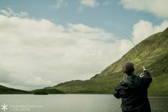 Fishing on the wedding day just outside Kenmare, Ireland.