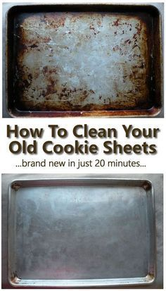 Cleaning Pans, Cleaning Baking Sheets, Household Cleaning Tips, Cleaning Recipes, House Cleaning Tips, Deep Cleaning, Spring Cleaning, Cookie Sheet Cleaning, Cleaning Lists
