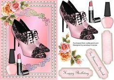 Lovely Shoes and makeup for someone special  on Craftsuprint - Add To Basket!