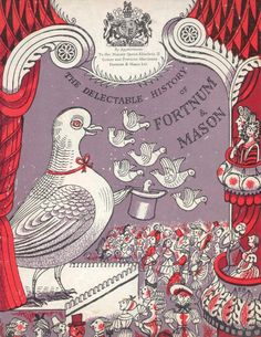 """""""The Delectable History of Fortnum & Mason"""" (cover), illustrated by Edward Bawden, c.1950s"""