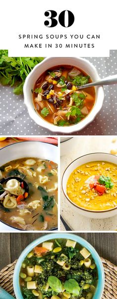 30 Spring Soups You Can Make in 30 Minutes  via @PureWow