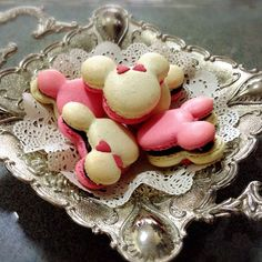 Minnie and Mickey Mouse Macarons