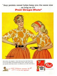 Nothing says love like body-shaming your teenage daughter. | 17 Ridiculously Sexist Vintage Ads
