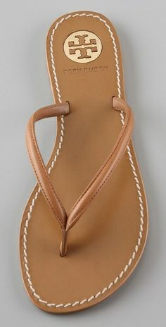 Tory Burch flip-flops. my new editon to the flip flop family