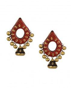 Buy Jewellery Online in India Terracotta Jewellery Making, Terracotta Jewellery Designs, Terracotta Earrings, Antique Jewellery Designs, Funky Jewelry, Simple Jewelry, Clay Jewelry, Jewelry Shop, Handmade Jewelry