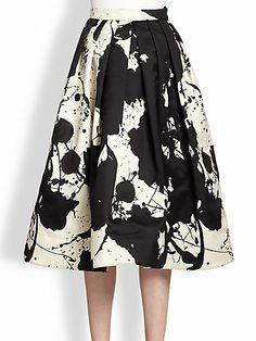 Tibi paint splatter skirt. I would rock this. YES. ROCK IT.