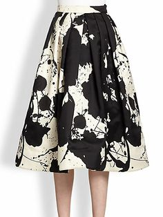 Paint Splatter Silk Skirt by: Tibi