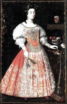 Éva Thököly (1659–1716) wife of Pál Esterházy (1635–1713) palatine of Hungary Date1690. Unknown artist.