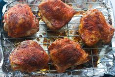 Baked Crispy Chicken Thighs- you won't believe they are baked ! Super easy to make. Dinner is ready in less than no time Chicken Thighs In Oven, Crispy Baked Chicken Thighs, Baked Fried Chicken, Chicken Thights Recipes, Baked Chicken Recipes, Chicken Recepies, Paleo Recipes, Cooking Recipes, Freezer Cooking