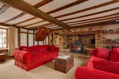 Dream homes – Cosy living rooms - David Burr #livingroom #fireplace